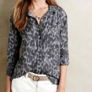 Tops - Cloth & Stone Leopard Print Button Down Top S